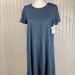 LulaRioe Heatherd Blue Dress size small